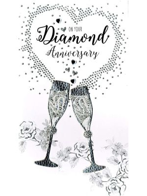 Second Nature Diamond 60th Anniversary Card