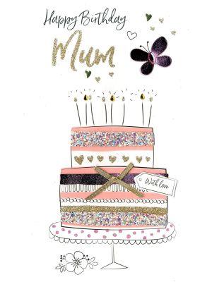 Second Nature Mum Pink Cake Birthday Card