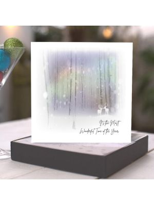 Five Dollar Shake Winter Magic Deer in Forest Christmas Boxed Cards