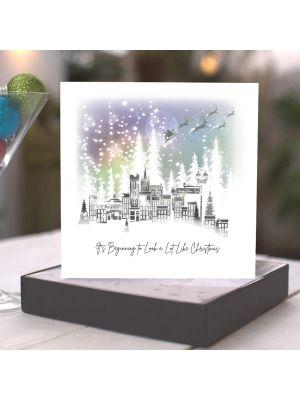 Five Dollar Shake Winter Magic Village Scene Christmas Boxed Cards