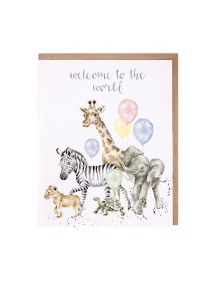 Wrendale Welcome To The World New Baby Card