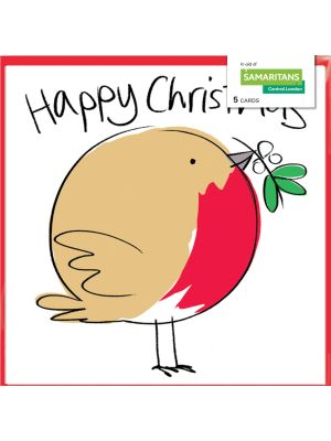 Lucilla Lavender Robin Charity Christmas Cards