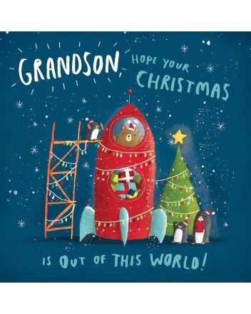 Woodmansterne Grandson Christmas Card