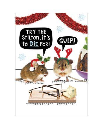 Crackerjack Stilton to Die For Christmas Card