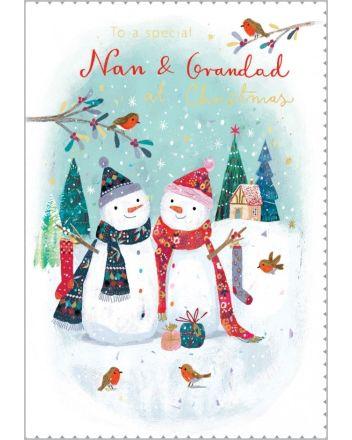 Abacus Nan and Grandad Christmas Card