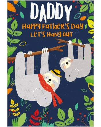 Abacus Sloth Daddy Fathers Day Card