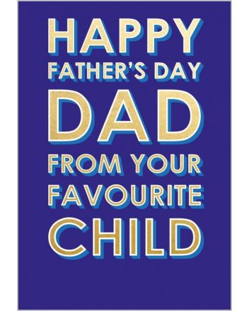 Abacus Favourite Child Fathers Day Card