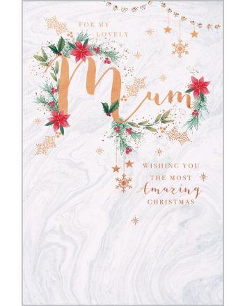 Abacus Lovely Mum Amazing Christmas Card