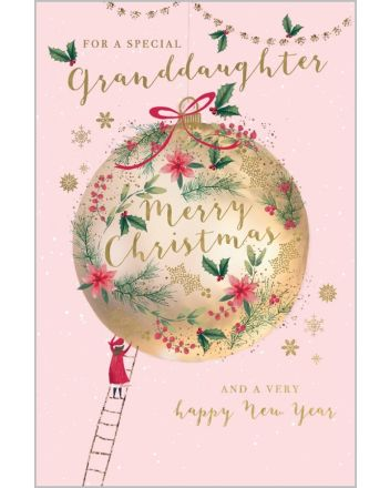 Abacus Special Granddaughter Christmas Card