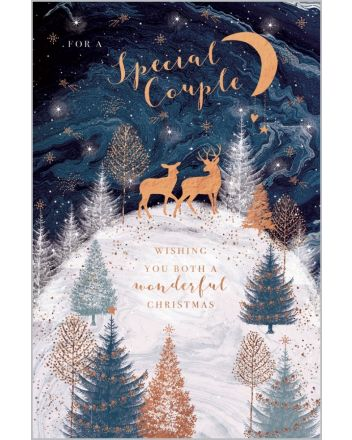 Abacus Woodland Deer Special Couple Christmas Card
