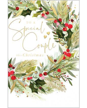 Abacus Special Couple Wreath Christmas Card
