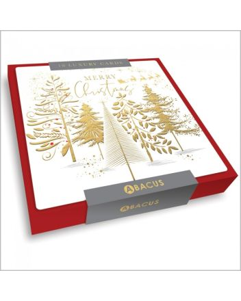 Abacus Sleigh Ride Over the Forest 10 Christmas Card Box