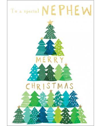 Abacus Trees Nephew Christmas Card