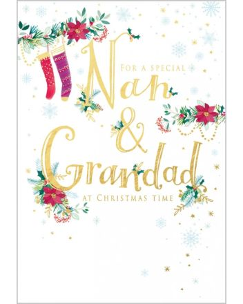 Abacus Special Nan and Grandad Christmas Card