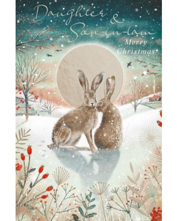 Abacus Hares Daughter and Son in Law Christmas Card