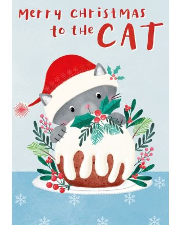 Abacus To The Cat Merry Christmas Card