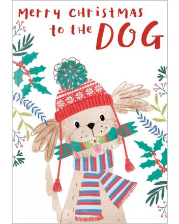 Abacus To The Dog Merry Christmas Card