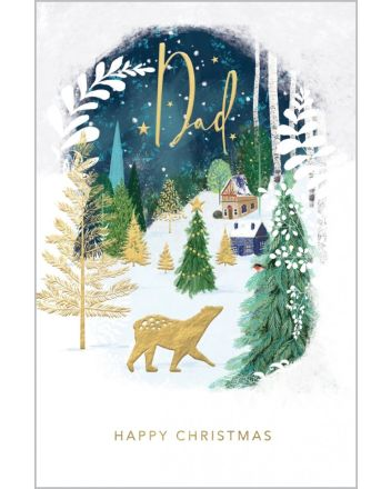 Abacus Polar Bear Dad Christmas Card
