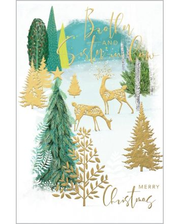 Abacus Forest Brother and Sister in Law Christmas Card