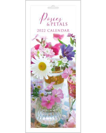 Abacus Posies and Petals Slim Calendar 2022