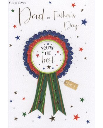 ICG Rosette Fathers Day Card