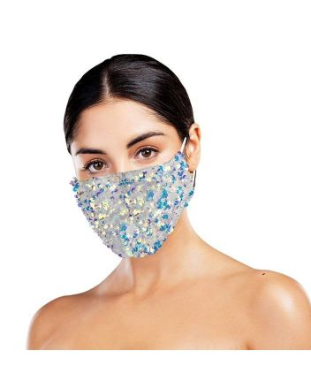 Snoozies Dazzle White Reusable Face Covering
