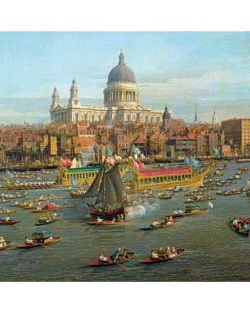 Museum and Galleries River Thames and St Pauls Cathedral Greeting Card