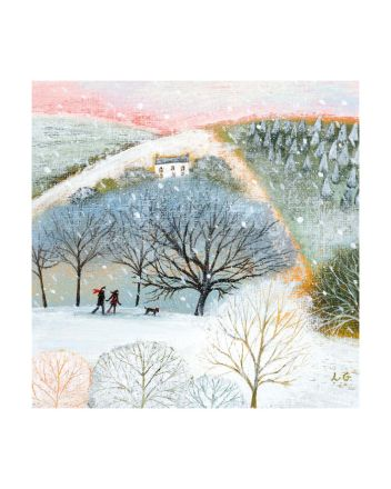 8 Museums and Galleries Winter Walkers Christmas Cards