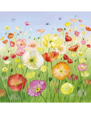 Museum and Galleries Icelandic Poppies Greeting Card