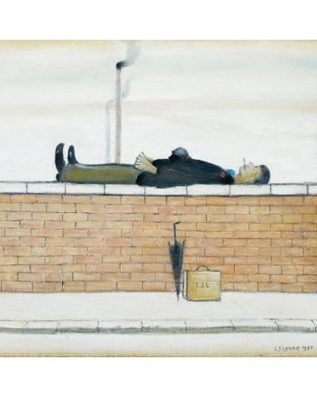 Museum and Galleries Man Lying on a Wall Greeting Card