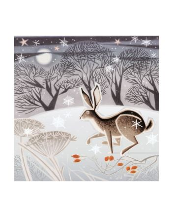 8 Museums and Galleries Hare Christmas Cards