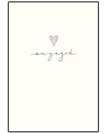 Woodmansterne Silver Heart Engagement Card