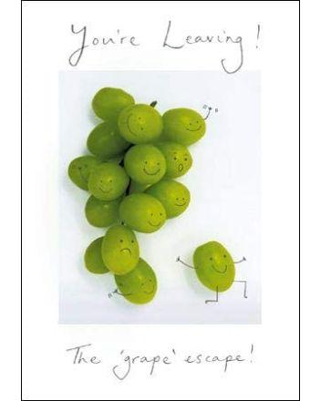 Woodmansterne The Grape Escape Leaving Card