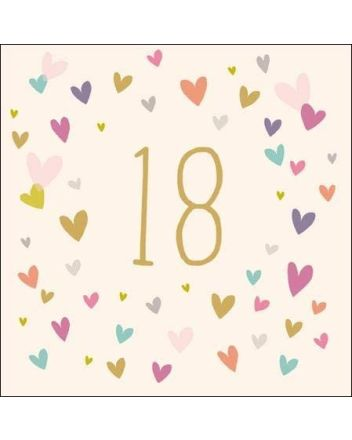 Woodmansterne Falling Hearts 18th Birthday Card