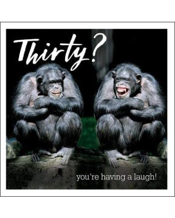 Woodmansterne Laughing Chimps 30th Birthday Card