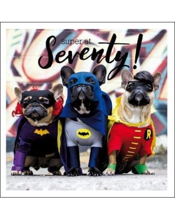 Woodmansterne Superhero Dogs 70th Birthday Card