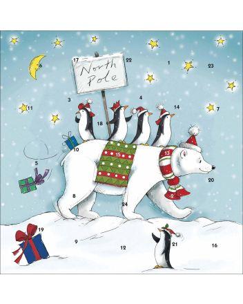 Polar Bear and Penguins Advent Calendar