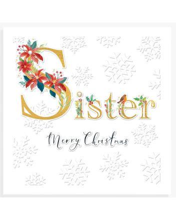 Woodmansterne Espoir Sister Christmas Card