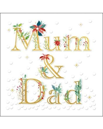 Woodmansterne Mum and Dad Love at Christmas Card