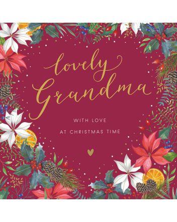 Woodmansterne Grandma Wreath with Love at Christmas Card