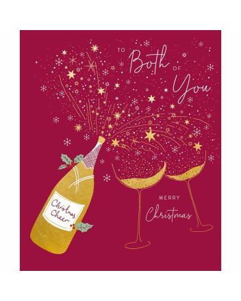 Woodmansterne Peach and Prosecco Both of You Christmas Card