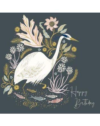 Watchful Heron - National Trust Harmony Card