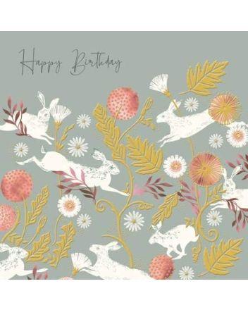 Playful Hares - National Trust Harmony Card