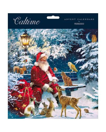 Woodmansterne Santa on a Bench Advent Calendar