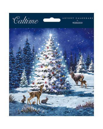 Woodmansterne Animals Around Christmas Tree Advent Calendar Card