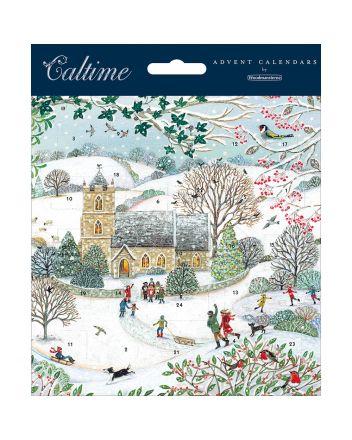 Woodmansterne Winter Church Advent Calendar Card
