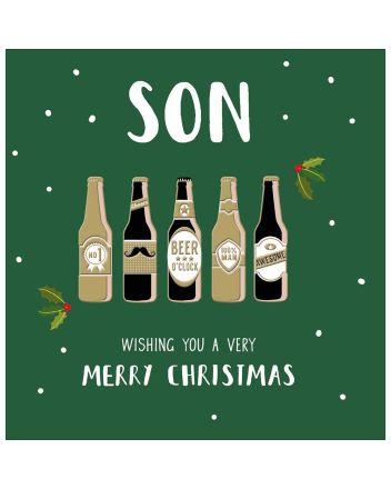 Woodmansterne Son Beers Merry Christmas Card