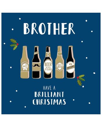 Woodmansterne Brother Brilliant Christmas Card