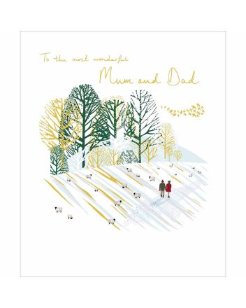 Woodmansterne Mum and Dad Stroll Christmas Card