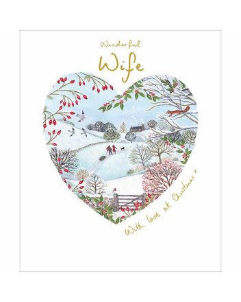 Woodmansterne Wife Winter Walk Christmas Card